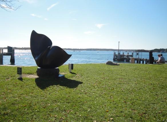 Woods Hole whale sculpture
